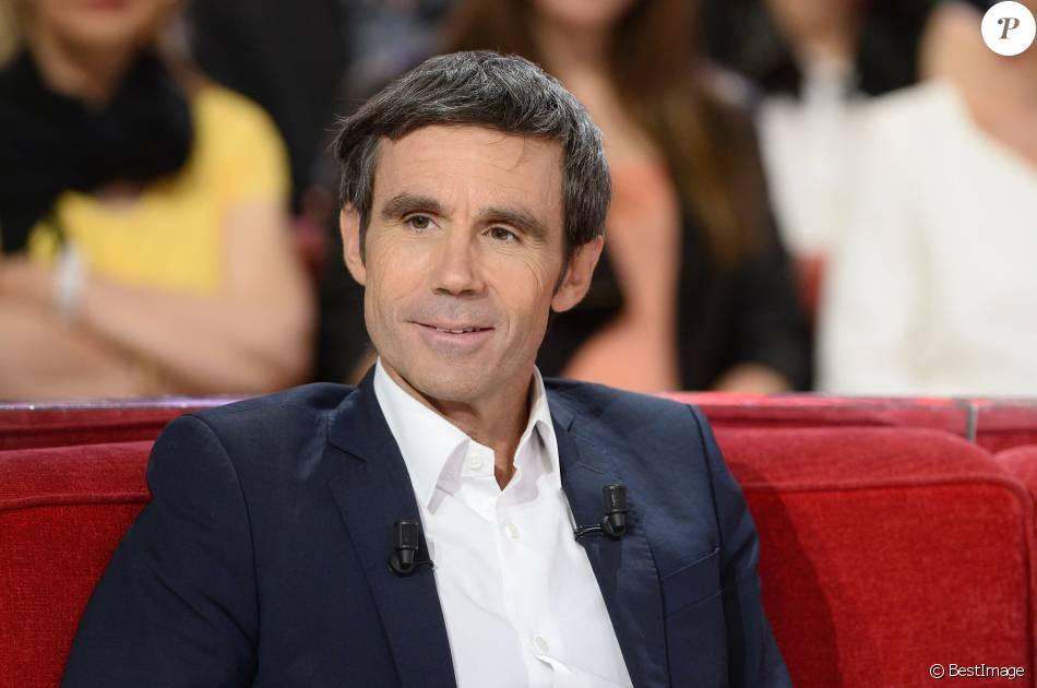 David Pujadas, à l'enregistrement de l'émission  Vivement Dimanche  à Paris le 2 juin 2015.