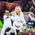 """Madonna avec ses enfants David Banda, Rocco et Lourdes au Malawi """"au temps de l'innocence"""", photo de son compte Instagram."""