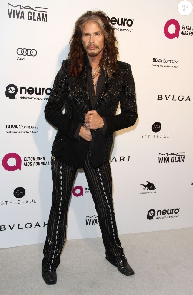 Steven Tyler à la soirée Elton John AIDS foundation 2016 à West Hollywood Park à West Hollywood, le 28 février 2016