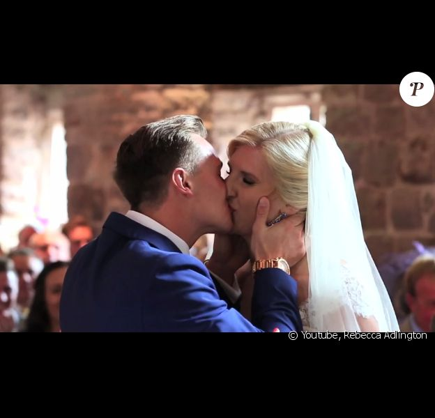 Rebecca Adlington et son époux Harry Needs viennent de se dire oui, le jour de leur mariage, le 31 août 2014