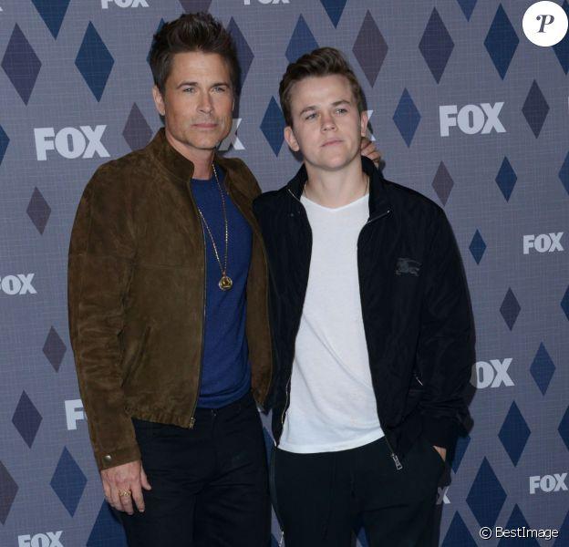 Rob Lowe et son fils John Owen Lowe, le 15/01/2016 - Pasadena