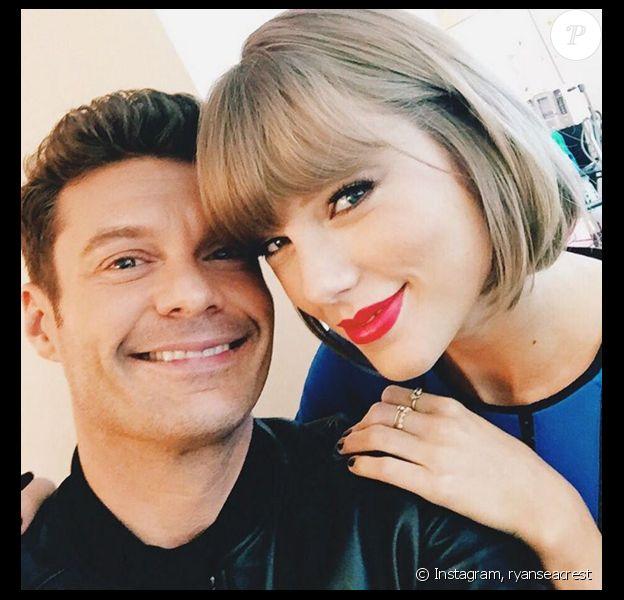 Ryan Seacrest et Taylor Swift inaugure le nouveau studio multimédia de la fondation Ryan Seacrest à l'hôpital pour enfants de Nashville. Photo publiée sur Instagram, le 19 mars 2016.