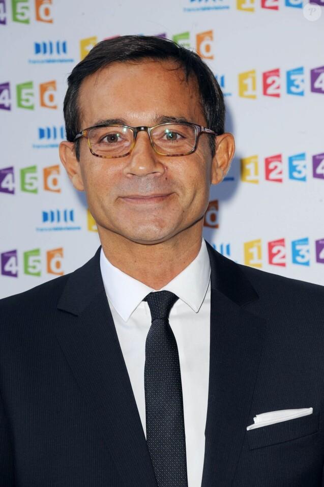 Jean-Luc Delarue lors de la conférence de presse du groupe France Télévisions à Paris le 31 août 2011
