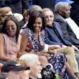 Barack Obama, Michelle et leurs filles avec Raul Castro à La Havane, le 22 mars 2016