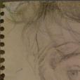 Portrait de Vincent Lindon dessiné par Sandrine Kiberlain en 1997 et qu'elle a posté sur Instagram le 26 février 2016