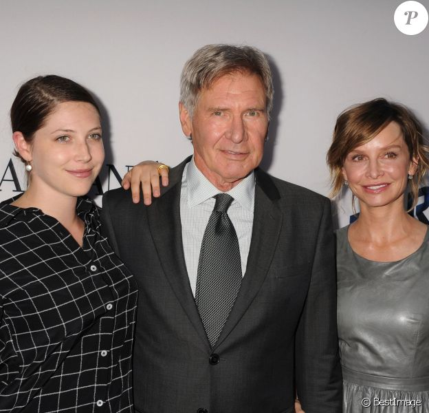 Georgia Ford, Harrison Ford et Calista Flockhart à Los Angeles le 3 août 2013.