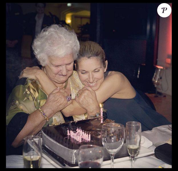Céline Dion fête les 89 ans de sa mère. Photo publiée sur Instagram, le 22 mars 2016