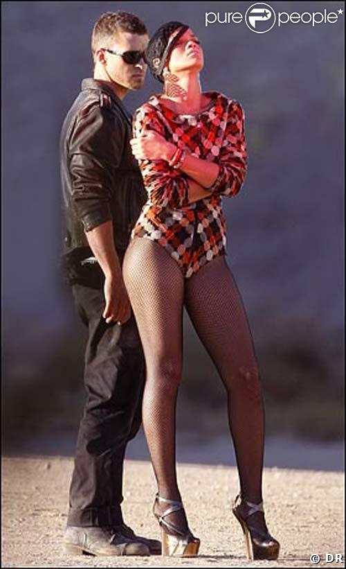 Justin Timberlake et Rihanna sur le tournage de clip Rehab