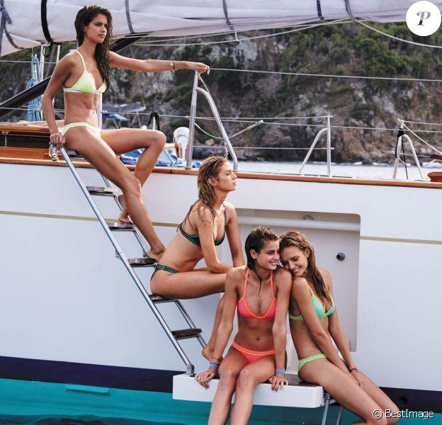 """Sara Sampaio, Stella Maxwell, Taylor Hill, Josephine Skriver- Lookbook """"Sexy in St. Barth's"""" de Victoria's Secret, nouvelle collection SWIM."""