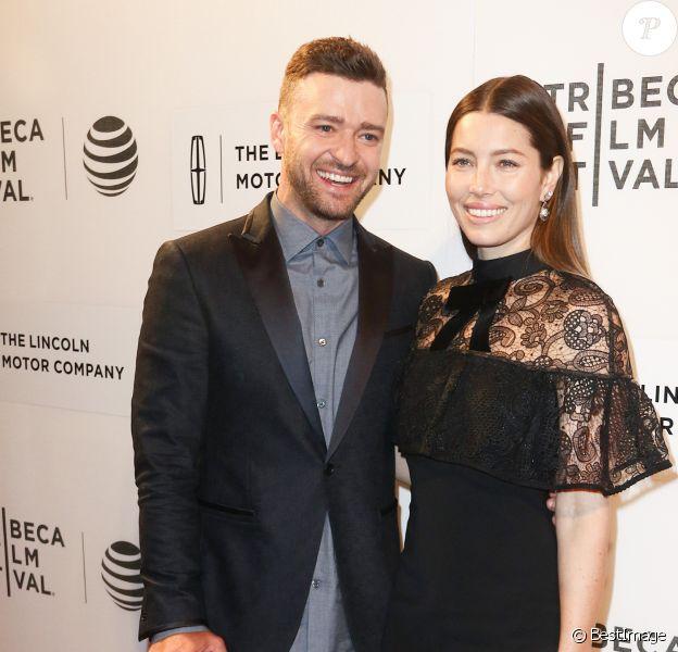"""Justin Timberlake et sa femme Jessica Biel à la première de """"The Devil and the Deep Blue Sea' à New York, le 14 avril 2016  Celebrities at the premiere of """"The Devil and the Deep Blue Sea' in New York City, New York on April 14, 2016.14/04/2016 - New York"""