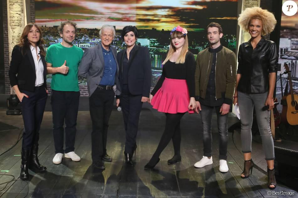 Exclusif - Keren Ann, Mathieu Boogaerts, Dave, Liane Foly, Luce, Marvin Jouno et Amanda Scott, lors du tournage de l'émission  Du côté de chez Dave , enregistrée le 18 février 2016 pour une diffusion le 17 avril 2016 sur France 3.