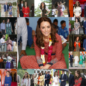 Kate Middleton : 17 looks en 7 jours en Inde et au Bhoutan, la compilation !