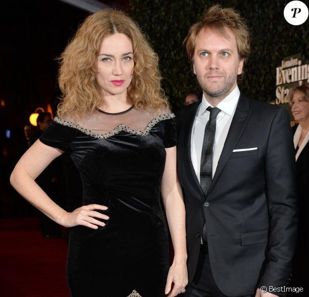 Marine Delterme et son mari Florian Zeller à la soirée Evening Standard Theatre Awards à Londres, le 22 novembre 2015