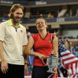 Kim Clijsters et son mari Brian Lynch après la finale de l'US Open à Flushing Meadows, le 13 septembre 2009