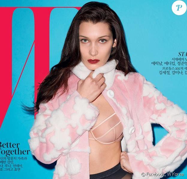 Bella Hadid en couverture du magazine W Korea (mai 2016). Photo par Terry Richardson.