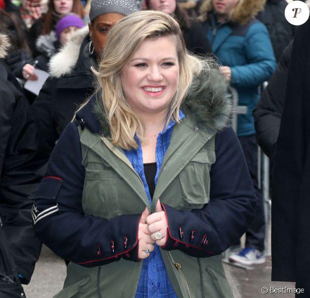 Kelly Clarkson à New York. Le 3 mars 2015