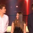 Manu, Mia et Patrick, dans la finale de  Nouvelle Star 2016  sur D8, le mardi 3 mai 2016.