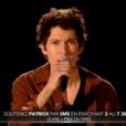 Patrick, dans la finale de  Nouvelle Star 2016  sur D8, le mardi 3 mai 2016.