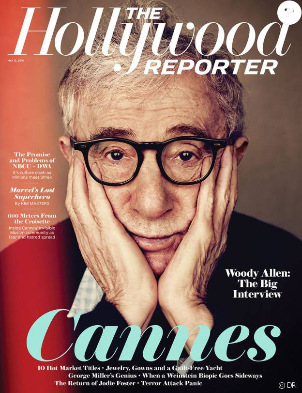 Woody Allen en couverture de The Hollywood Reporter - mai 2016