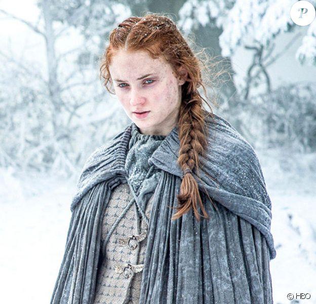 """Sophie Turner dans la saison 6 de """"Game of Thrones"""", actuellement diffusée sur HBO et OCS City, 2016."""