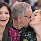 Fabrice Luchini, intenable, embrasse Juliette Binoche et Valeria Bruni-Tedeschi