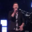 Justin Timberlake chante sur la scène de l'Eurovision 2016, à Stockholm en Suède, le samedi 14 mai 2016 sur France 2.