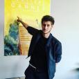 Jean-Baptiste Maunier lors de l'interview au Festival de Cannes 2016.