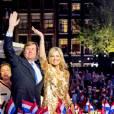 """""""La reine Maxima et le roi Willem-Alexander des Pays-Bas assistent au concert de la Libération à Amsterdam le 5 mai 2016."""""""