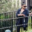 Kim Kardashian et sa fille North West à Disneyland. Anaheim, le 19 mai 2016.