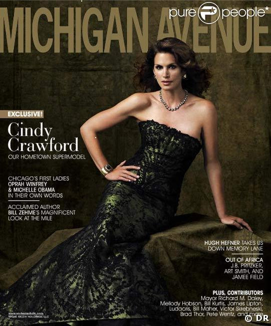 Cindy Crawford pour Michigan Avenue Magazine