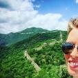 Sylvie Tellier sur la muraille de Chine, le 24 mai 2016.