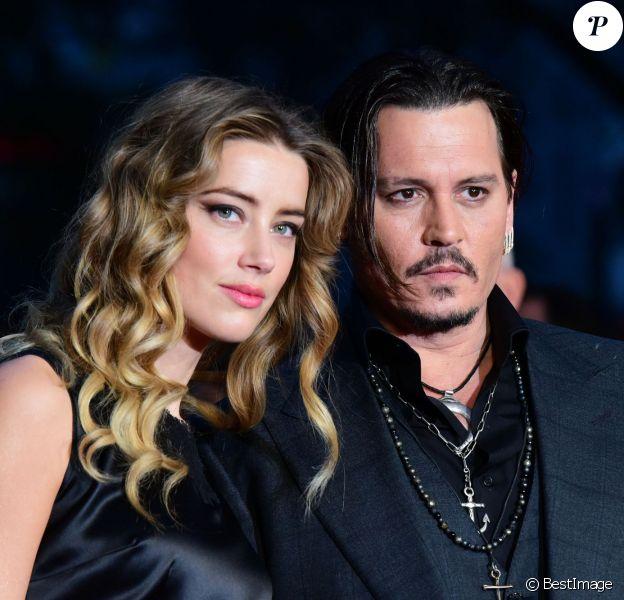 """Johnny Depp et sa femme Amber Heard - Avant-première du film """"Black Mass"""" lors du Festival BFI à Londres, le 11 octobre 2015. 11"""