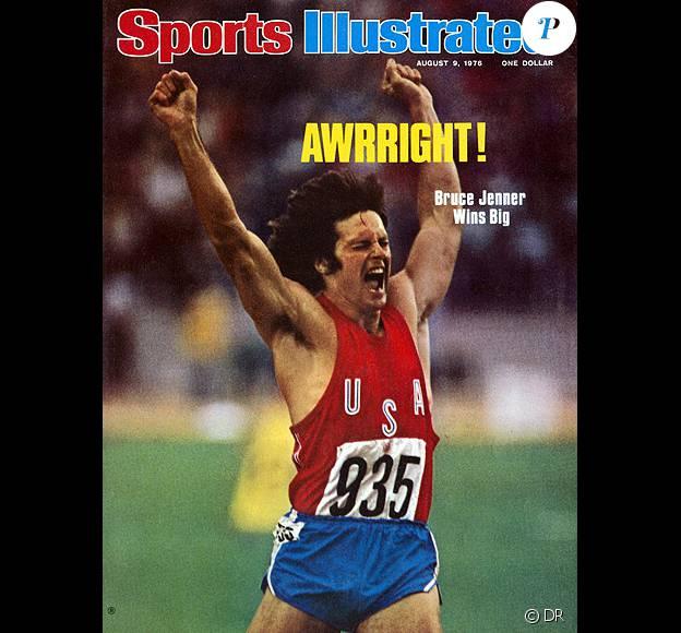 """Caitlyn Jenner, qui s'appelait encore Bruce, en couverture de """"Sports Illustrated"""" après avoir remporté l'or en décathlon aux Jeux Olympiques de Montréal en 1976."""