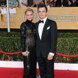 Rupert Friend et sa fiancée Aimee Mullins aux SAG Awards à Los Angeles, le 18 janiver 2014.