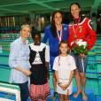 La princesse Charlene et le prince Albert II de Monaco ont assisté aux finales du XXXIVe Meeting Mare Nostrum à la piscine du Stade Louis II le 5 juin 2016. © Olivier Huitel/Pool Monaco/Bestimage