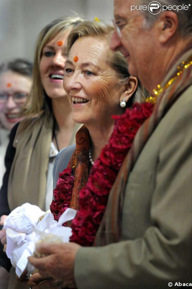 Le roi Albert II de Belgique et son épouse Paola en Inde