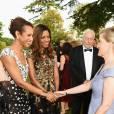La comtesse Sophie de Wessex avec Naomie Harris et Afua Hirsch lors de la soirée de gala Diamonds Are Forever pour le 60e anniversaire du Duke of Edinburgh Award à Stoke Park, le 9 juin 2016.