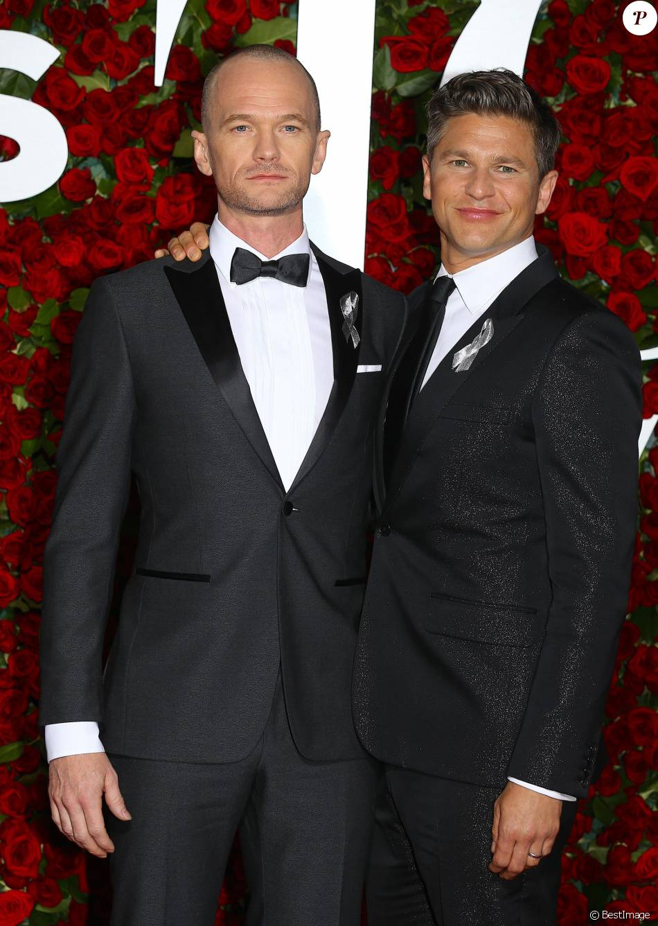 Neil Patrick Harris et son mari David Burtka - 70e cérémonie annuelle des Tony Awards au Beacon Theatre à New York, le 12 juin 2016.
