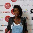 """Hapsatou Sy (enceinte) - Photocall """"10 ans Labo International - Afro Fashion Remix"""" à Paris Salon multi-ethnique""""LE LABO INTERNATIONAL"""" qui a eu lieu le 11 et 12 juin 2016 à l'espace des Blancs Manteaux dans le Marais. Des défilés, des shows, de nombreux happenings, des conférences ont rythmés le week-end sous le signe de la Mode et du Glamour."""