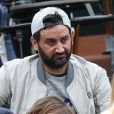 Cyril Hanouna et son fils Lino - People dans les tribunes des internationaux de France de Roland Garros à Paris le 4 juin 2016. © Moreau - Jacovides / Bestimage