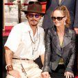 Johnny Depp et Vanessa Paradis à Hollywood le 16 septembre 2005.