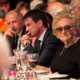 Semi-exclusif - François Pinault, Manuel Valls, premier ministre et Bernadette Chirac - Dîner anniversaire pour les 10 ans du Musée du quai Branly - Jacques Chirac à Paris, France, le 23 juin 2016. © Romuald Meigneux/Bestimage