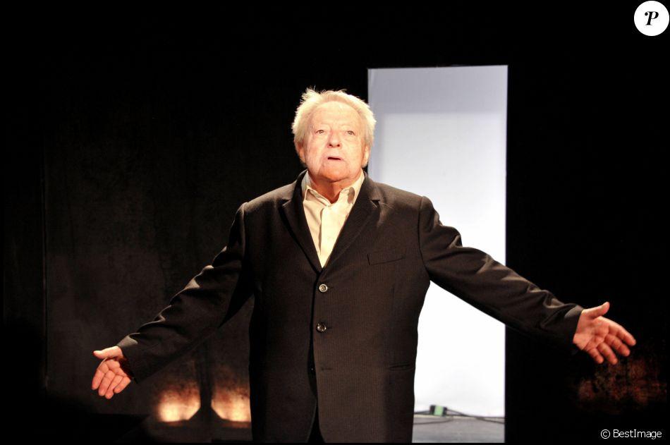 Filage de la pièce A propos de Martin avec Roger Dumas en 2010 à Paris
