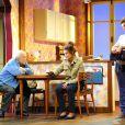 Roger Dumas, Lysiane Meis et Claudia Dimier - Filage de la pièce L'Etudiante et Monsieur Henri au théâtre de Paris le 4 septembre 2012