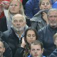 Gérard Jugnot et Jean-Claude Darmon lors du match du quart de finale de l'UEFA Euro 2016 France-Islande au Stade de France à Saint-Denis, France le 3 juillet 2016. © Cyril Moreau/Bestimage