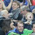 Raphaël  Mezrahi,  Gerard Jugnot et Jean Claude Darmon lors du match du quart de finale de l'UEFA Euro 2016 France-Islande au Stade de France à Saint-Denis, France le 3 juillet 2016. © Cyril Moreau/Bestimage
