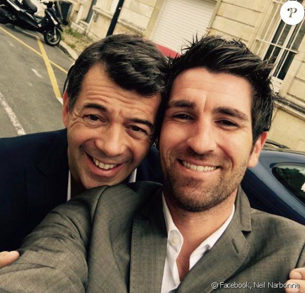 Neil Narbonne et Stéphane Plaza prennent la pose ensemble. Juillet 2016