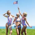 Taylor Swift fête l'Indépendance Américaine avec ses amies Gigi Hadid et Cara Delevingne. Photo publiée sur Instagram, le 5 juillet 2016.