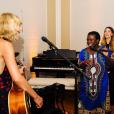 Taylor Swift en concert lors d'une soirée chez elle. Photo publiée sur Instagram, le 5 juillet 2016.