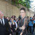 Adriana Abascal - Défilé Valentino, collection haute couture automne-hiver 2016/2017, à l'hôtel Salomon de Rothschild. Paris, le 6 juillet 2016. © CVS-Veeren/Bestimage
